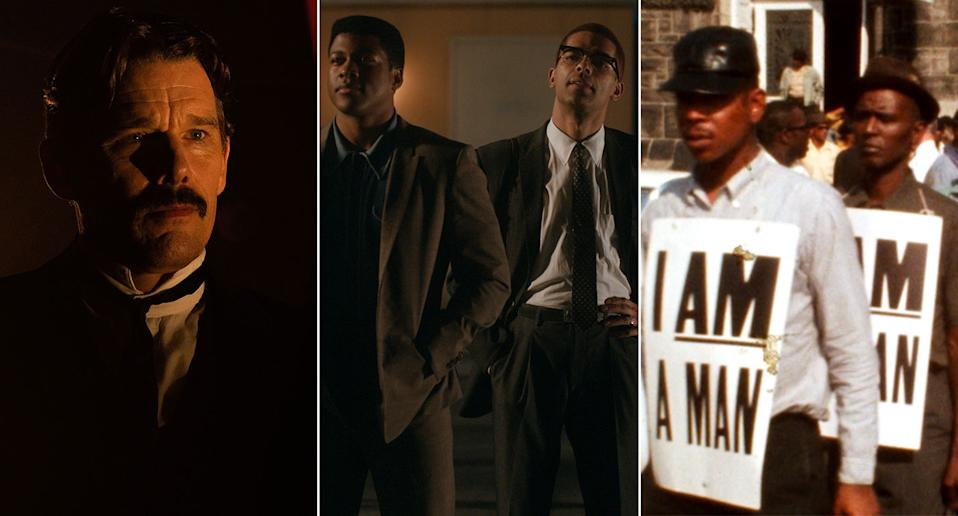 Tesla, One Night In Miami, and MLK/FBI are all new to UK streaming this week. (Lionsgate/Amazon Studios/Dogwoof)