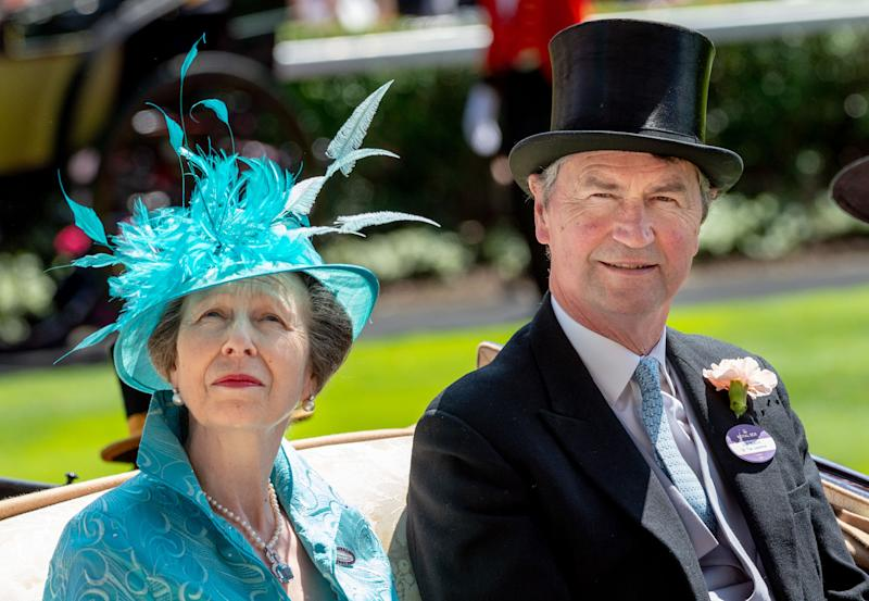 ASCOT, ENGLAND - JUNE 21: Princess Anne, Princess Royal and Timothy Laurence attend Royal Ascot Day 3 at Ascot Racecourse on June 21, 2018 in Ascot, United Kingdom. (Photo by Mark Cuthbert/UK Press via Getty Images)