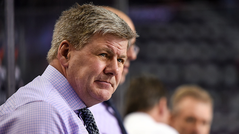 The Calgary Flames have fired head coach Bill Peters after reports of prior racist remarks. (Photo by Brett Holmes/Icon Sportswire via Getty Images)