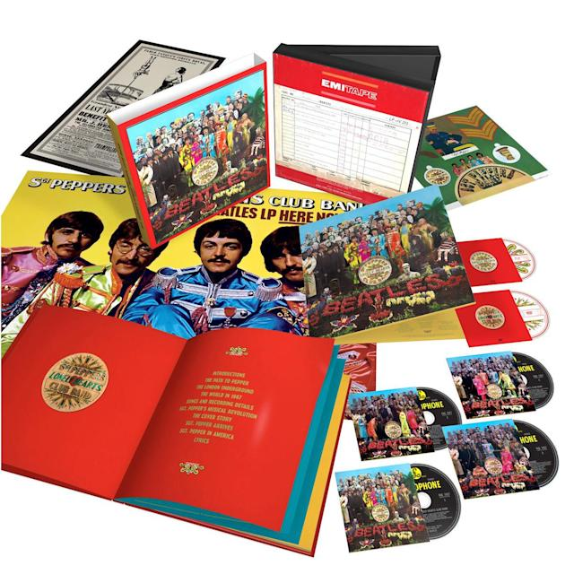 <p>By various authors<br>It's not being sold separately, but it could be, if they so chose — because the 146-page hardback book that comes with the new <em>Sgt. Pepper</em> boxed set is very nearly worth the price of admission all by itself. Even a speed reader will spend hours pouring over its contents, which include not just the lyrics and historical photos you'd expect but lengthy essays on what was happening in the Beatles' world and in the culture at large before, during, and after the album's making. If you buy just one book about <em>Sgt. Pepper</em> this year, make it this one… and there happens to be a pretty nifty six-disc set that comes with it.<br>(Photo: Capitol) </p>