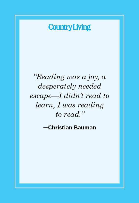 """<p>""""Reading was a joy, a desperately needed escape—I didn't read to learn, I was reading to read."""" </p>"""