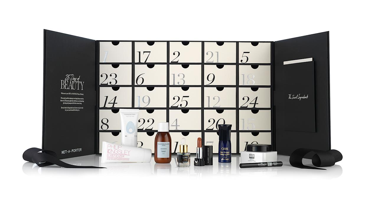 "<p>For those of you wanting to go big this Christmas, look no further than Net-a-Porter's advent calendar. Jam-packed with 25 coveted products from mega labels such as Sunday Riley, Charlotte Tilbury and Sachajuan – this leaves no room for competition. Now available <a rel=""nofollow"" href=""https://www.net-a-porter.com/gb/en/product/1124500/net_a_porter_beauty/25-days-of-beauty?cm_mmc=LinkshareUK-_-TnL5HPStwNw-_-Custom-_-LinkBuilder&siteID=TnL5HPStwNw-dGpLrHz8PN.wQBN0MdGCDA&Skimlinks.com=Skimlinks.com&dclid=CjkKEQjwjbveBRDxmczl8ZKg_d8BEiQA0lS8PTaDGXR-mHW6r73FW8EYUy9roGnIdp4dLVy91WpLQh7w_wcB"">online</a> for £150. </p>"