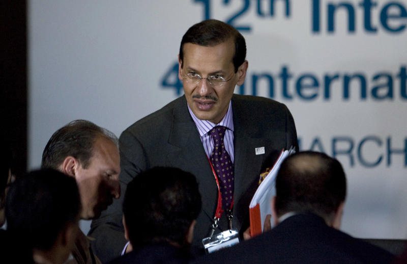 In this March 31, 2010, file photo, Saudi Arabia's Prince Abdulaziz bin Salman attends the International Energy Forum in Cancun, Mexico. Saudi Arabia's King Salman replaced the country's energy minister with one of his own sons Sunday, Sept. 8, 2019, naming Prince Abdulaziz bin Salman to one of the most important positions in the country as oil prices remain stubbornly below what is needed to keep up with government spending. (AP Photo/Israel Leal, File)