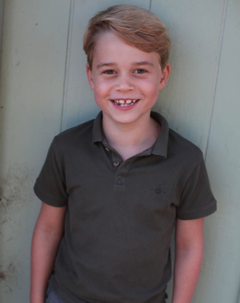Prince George grins on his seventh birthday