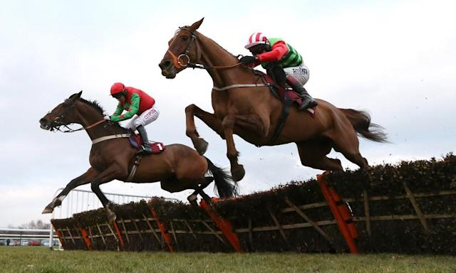 "<span class=""element-image__caption"">Definitly Red (right) is the form pick for The Grand National, but he doesn't have much form on the kind of good ground that is likely at Aintree this year.</span> <span class=""element-image__credit"">Photograph: Jan Kruger/Getty Images</span>"