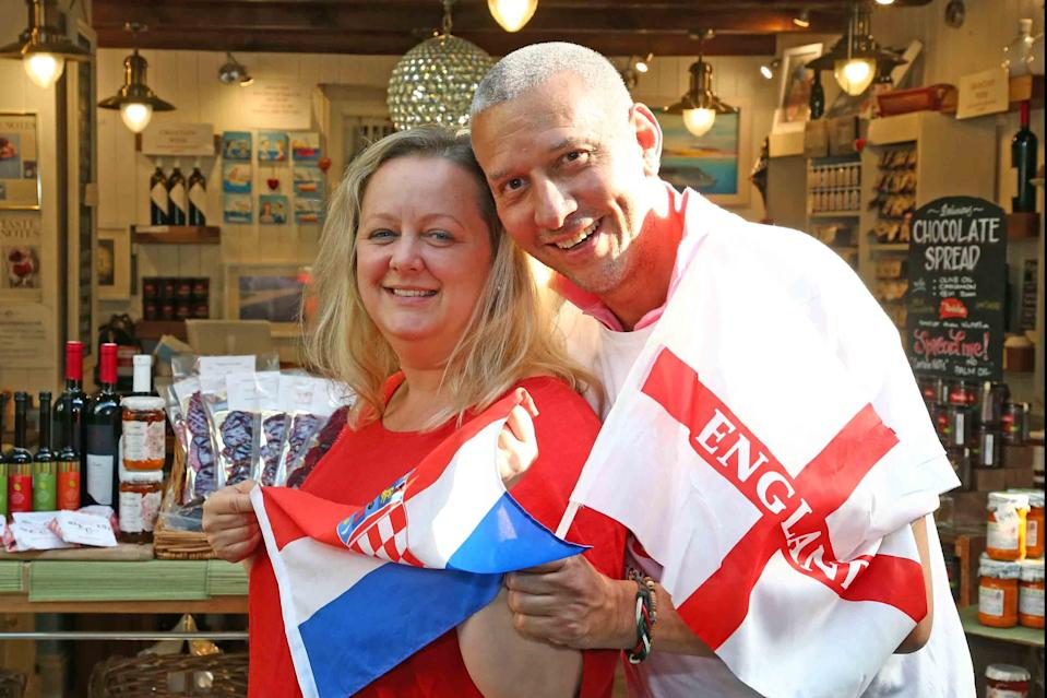 Football results have caused much furore at the home of Chris and Ana-Maria Stewart (NIGEL HOWARD ©)