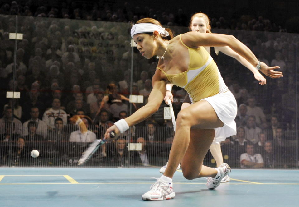 Malaysia's Nicol David in action during the 2018 World Squash Championships.