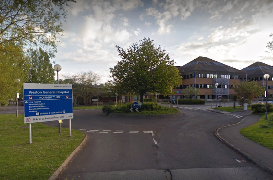Weston General Hospital in Somerset has stopped taking new patients (Google)