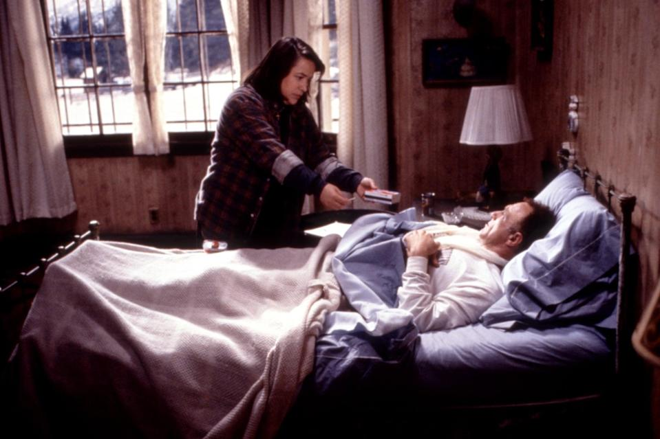 <p>Think you're better off inside? Not if you're trapped with Annie Wilkes (Kathy Bates) and you just killed off her favorite fictional character. If you're into Bates on <strong>American Horror Story</strong>, check out <strong>Misery</strong> to see her evil roots.</p>
