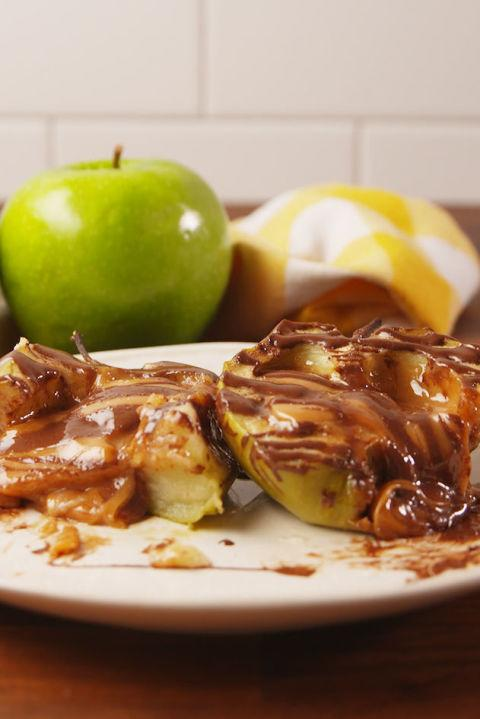 """<p>The perfect fall dessert.</p><p>Get the recipe from <a rel=""""nofollow"""" href=""""http://www.delish.com/cooking/recipes/a55970/caramel-stuffed-apples-recipe/"""">Delish</a>.</p>"""