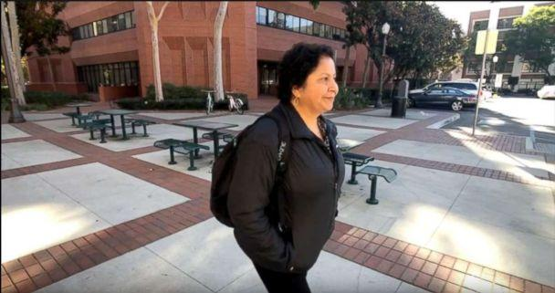 PHOTO: Margarita Lopez, 58, is pictured walking around campus at University of Southern California. (ABC News)