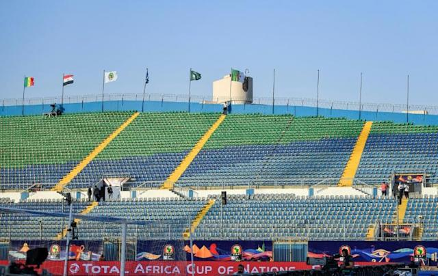 Empty stands, such as these at the match between Senegal and Algeria, have been a feature of the Africa Cup of Nations (AFP Photo/Khaled DESOUKI)