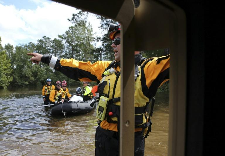 Rescuers search for storm victims in Lumberton, North Carolina