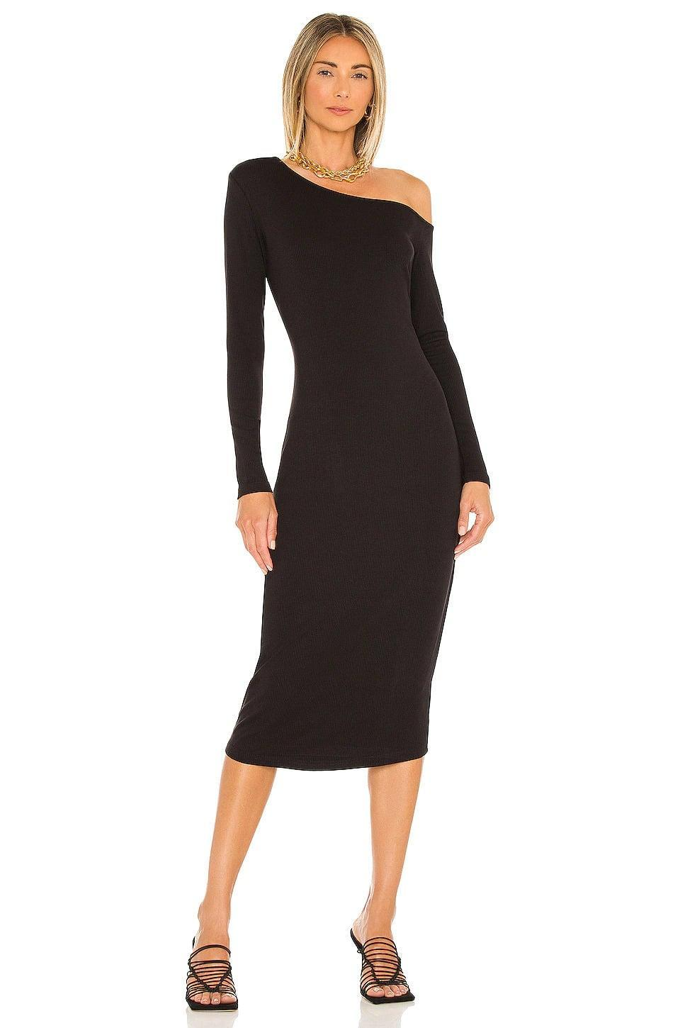 <p>The <span>Heartloom Larisa Dress in Black</span> ($99) does the off-shoulder trend right. It's such a sleek and dependable option. If you're in the market for a black dress perfect for the colder months, this is a fabulous find. </p>