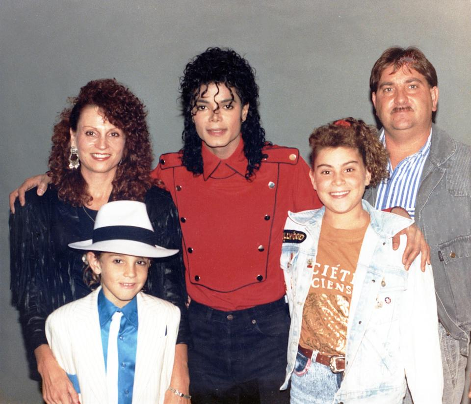 Michael Jackson with Wade Robson and his family in 1990 (Photo: Courtesy of Dan Reed/HBO)