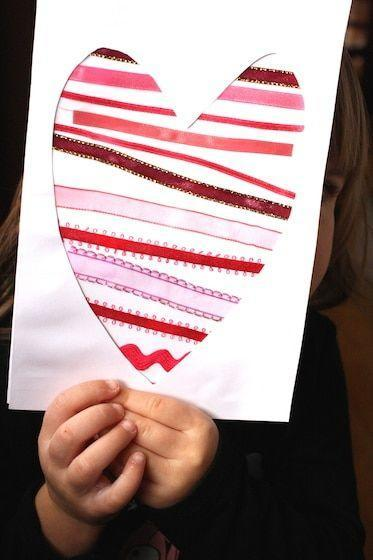 "<p>The cutout design of this project makes for a 3D card she can hang up at her desk at work — or even a piece of art worthy of framing. For a twist, tailor the ribbons to Mom's favorite colors.</p><p><em><a href=""https://happyhooligans.ca/ribbon-heart-valentines-cards-toddlers/"" rel=""nofollow noopener"" target=""_blank"" data-ylk=""slk:Get the tutorial at Happy Hooligans »"" class=""link rapid-noclick-resp"">Get the tutorial at Happy Hooligans »</a></em></p>"