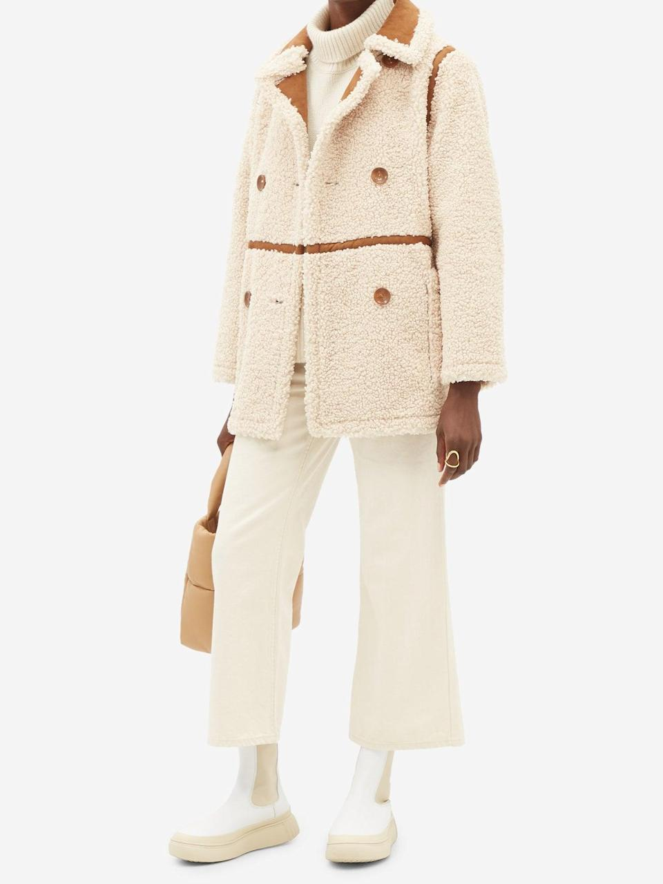 """It's entirely possible to look put-together <em>and</em> feel supremely cozy when you have this structured teddy bear coat living in your wardrobe. $450, Matches Fashion. <a href=""""https://www.matchesfashion.com/us/products/1424108"""" rel=""""nofollow noopener"""" target=""""_blank"""" data-ylk=""""slk:Get it now!"""" class=""""link rapid-noclick-resp"""">Get it now!</a>"""