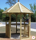 """<p>It may be small, but it has a big impact. This quaint octagonal gazebo is perfect for those on a budget, because it calls for rough sawn lumber, which is usually more plentiful and cheaper than dressed or surfaced lumber. </p><p><strong>Get the tutorial at <a href=""""https://www.buildeazy.com/gazebo/"""" rel=""""nofollow noopener"""" target=""""_blank"""" data-ylk=""""slk:BuildEazy"""" class=""""link rapid-noclick-resp"""">BuildEazy</a>. </strong></p>"""