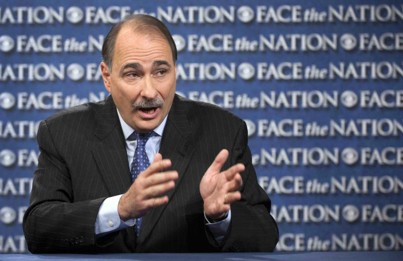 "In this photo provided by CBS News, David Axelrod, adviser to the Obama campaign, talks on CBS's ""Face the Nation"" in Washington Sunday, Oct. 7, 2012. Axelrod spoke about President Barack Obama's intent during the presidential debate and again said he thought Romney was dishonest in his answers. (AP Photo/CBS News, Chris Usher)"