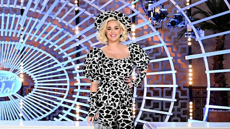 Katy Perry returns to 'American Idol in a cow-print outfit after giving birth to Daisy Dove