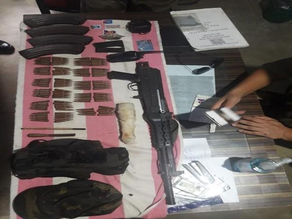 Arms and ammunition recovered in special operations in Changlang, Arunachal Pradesh. Photo/ANI