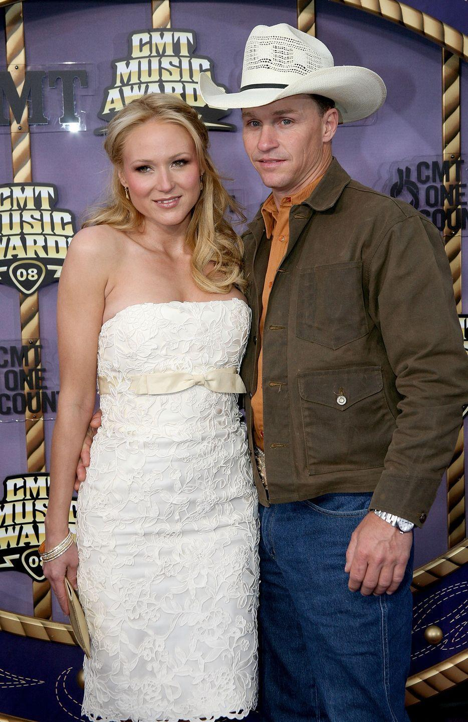 """<p>Country singer Jewel wrangled herself a perfect match when she met professional rodeo rider Ty Murray. After 10 years together, they eloped in the Bahamas — just the two of them. """"To pull off the wedding quietly made it magical,"""" Jewel told <a href=""""https://people.com/celebrity/first-photo-jewels-secret-wedding/"""" rel=""""nofollow noopener"""" target=""""_blank"""" data-ylk=""""slk:PEOPLE"""" class=""""link rapid-noclick-resp"""">PEOPLE</a>. The bride wore a Monique Lhuillier, while Murray kept it simple in jeans and cowboy boots. """"It felt like we were the only ones in the world,"""" <a href=""""https://people.com/celebrity/first-photo-jewels-secret-wedding/"""" rel=""""nofollow noopener"""" target=""""_blank"""" data-ylk=""""slk:Ty said"""" class=""""link rapid-noclick-resp"""">Ty said</a>.</p>"""