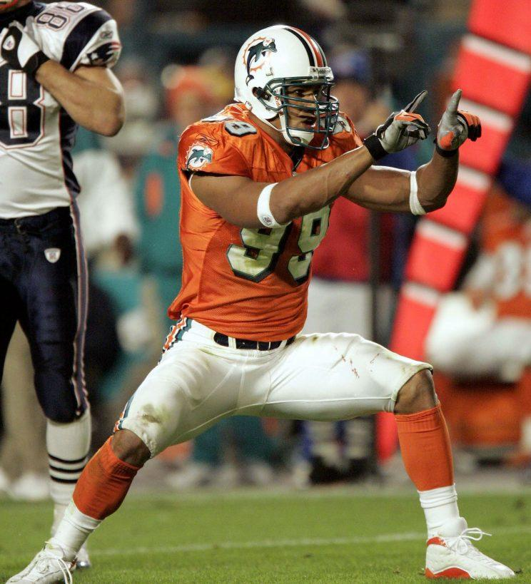 Jason Taylor on the hunt. (Getty)