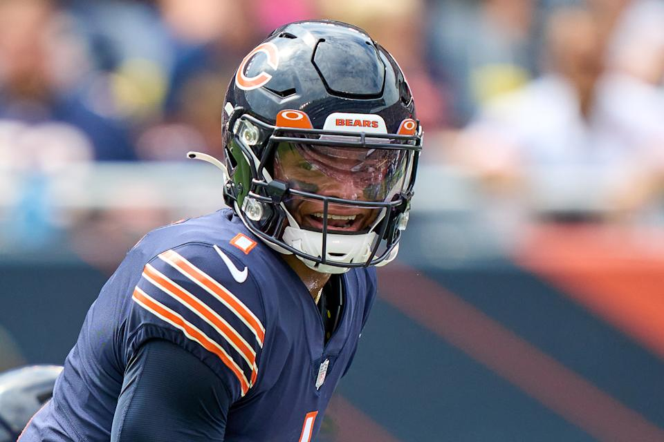 Justin Fields with the Chicago Bears.