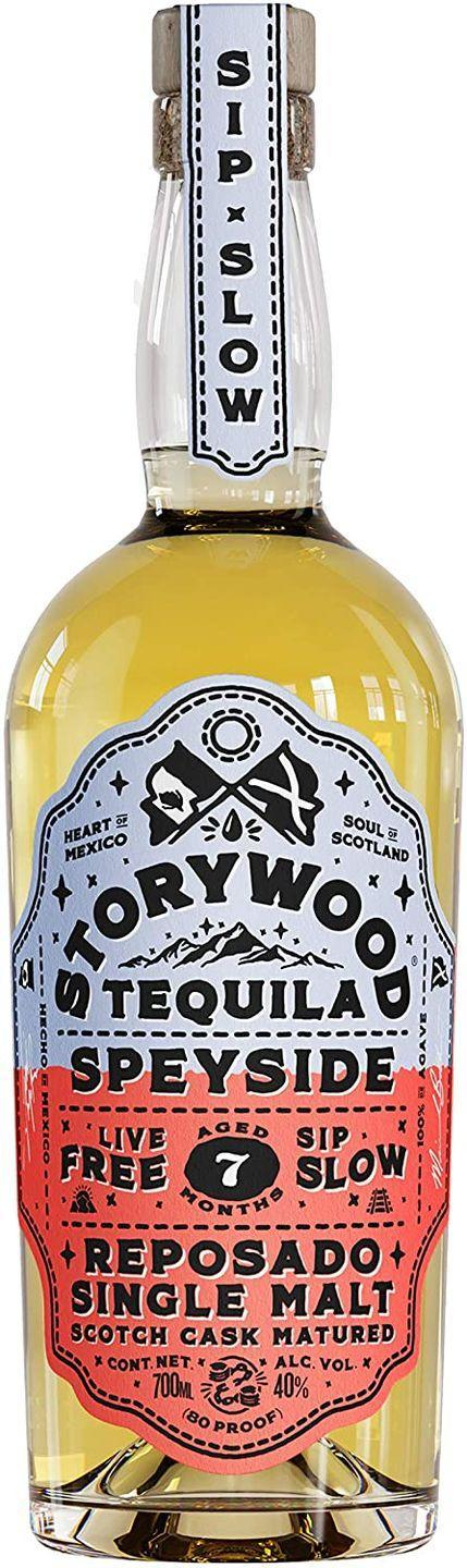 """<p><a class=""""link rapid-noclick-resp"""" href=""""https://www.amazon.co.uk/Storywood-Tequila-Winning-Single-Reposado/dp/B0886ZF669?tag=hearstuk-yahoo-21&ascsubtag=%5Bartid%7C1923.g.35509977%5Bsrc%7Cyahoo-uk"""" rel=""""nofollow noopener"""" target=""""_blank"""" data-ylk=""""slk:SHOP"""">SHOP</a></p><p>Bit of a curveball here: while most reposado tequila is aged in American or French oak, Storywood's is aged for seven months in Scottish oak from Dufftown. That gives it an earthier, slightly more whisky-leaning feel.</p><p>£42.40, amazon.co.uk</p>"""