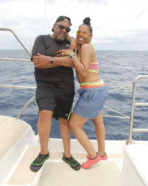 PHOTO: A photograph posted to Facebook on May 28, 2019, shows Americans Nathaniel Edward Holmes and Cynthia Ann Day on vacation in the Dominican Republic, before they were found dead at a hotel there in late May 2019. (Nathaniel Holmes/Facebook)