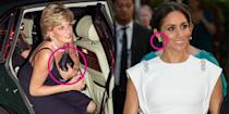"""<p>The Queen, <a href=""""https://www.goodhousekeeping.com/beauty/fashion/g2515/kate-middleton-princess-diana-photos/"""" rel=""""nofollow noopener"""" target=""""_blank"""" data-ylk=""""slk:Kate Middleton"""" class=""""link rapid-noclick-resp"""">Kate Middleton</a>, Meghan Markle, and even <a href=""""https://www.goodhousekeeping.com/beauty/fashion/a23890165/sarah-ferguson-eugenie-bracelet-jewelry-royal-wedding/"""" rel=""""nofollow noopener"""" target=""""_blank"""" data-ylk=""""slk:Sarah Ferguson"""" class=""""link rapid-noclick-resp"""">Sarah Ferguson</a> love to make a statement with their outfits (even if it's not obvious to the public). Take a look at <a href=""""https://www.goodhousekeeping.com/life/news/a47033/prince-harry-hand-gesture-meaning/"""" rel=""""nofollow noopener"""" target=""""_blank"""" data-ylk=""""slk:these hidden messages"""" class=""""link rapid-noclick-resp"""">these hidden messages</a> and details you may not have known about when it comes to royal style and accessories. </p>"""