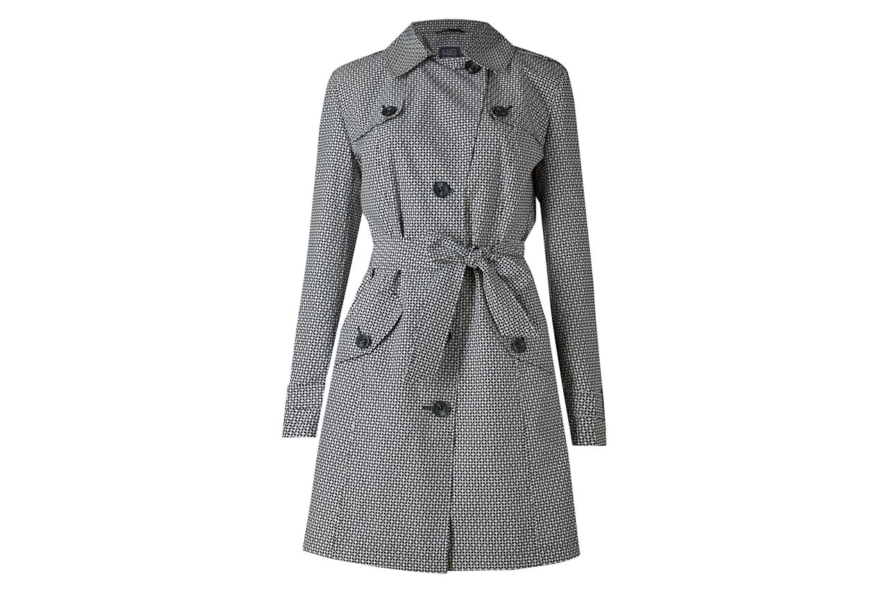 """<p>High street style from across the pond—this coat from beloved British brand Marks & Spencer has a graphic black and white print that's perfect for perking up dreary days.<br /> <br /> <strong>To buy:</strong> $69, <a rel=""""nofollow"""" href=""""http://www.marksandspencerlondon.com/us/printed-trench-coat-with-stormwear%E2%84%A2/p/P22491560.html?referrer=LinkShareUS&extid=af_rakuten_313970_USA_enJ84DHJLQkR4-Z4FY9GGvD0ZNH.93csAvjg&dwvar_P22491560_color=ZZ"""">marksandspencerlondon.com</a>.</p>"""