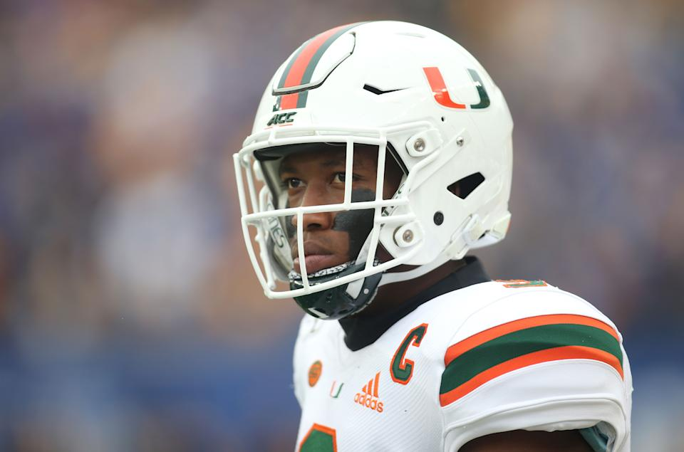 Miami tight end Brevin Jordan was so-so in his return to action. (Charles LeClaire-USA TODAY Sports)