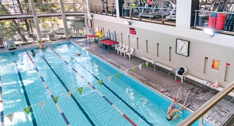 The man was found unconscious in the gym's swimming pool. Source: Supplied