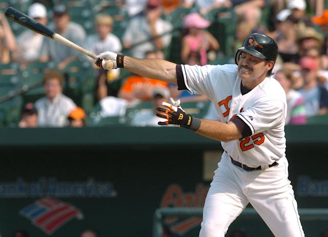 Rafael Palmeiro is ready for a comeback at 53. (AP Photo)