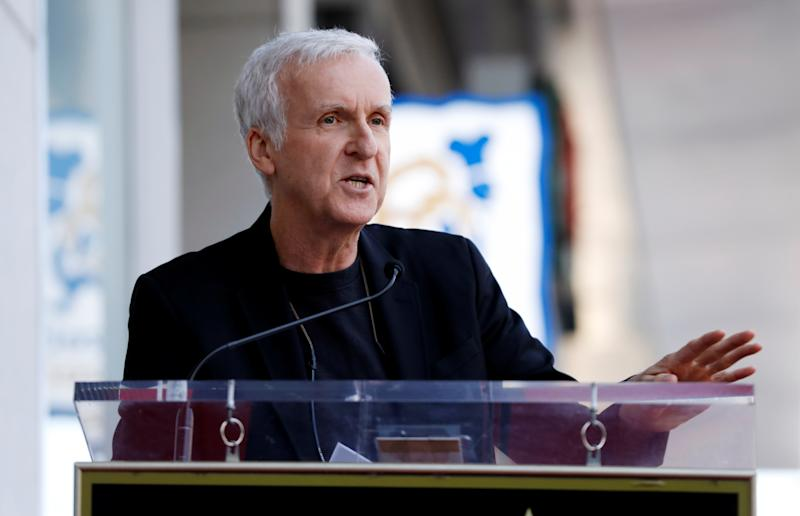 James Cameron speaks during the ceremony for the unveiling of Zoe Saldana's star on the Hollywood Walk of Fame in Los Angeles, California, U.S. May 3, 2018. REUTERS/Mario Anzuoni