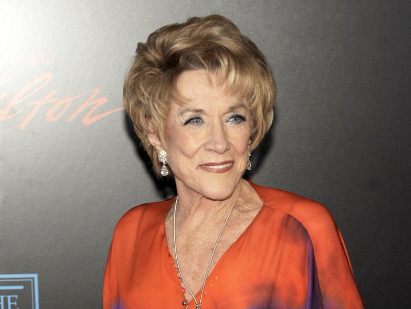 "FILE - In this June 27, 2010 file photo, ""The Young and the Restless"" star Jeanne Cooper arrives at the 37th Annual Daytime Emmy Awards in Las Vegas. CBS says ""The Young and the Restless"" will broadcast a tribute to Jeanne Cooper, the veteran star of this daytime drama who died Wednesday May 8, 2013. It is scheduled to air May 28. Cooper, 84, played grande dame Katherine Chancellor. She joined the soap six months after its March 1973 debut, staking claim to the title of its longest-tenured cast member.  (AP Photo/Chris Pizzello, File)"