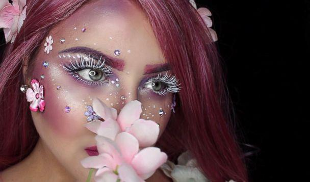 PHOTO: Beauty vlogger Madaline Pompeii created this pink fairy look for 'Good Morning America' and revealed how you can do it yourself. (Courtesy Madaline Bowman)