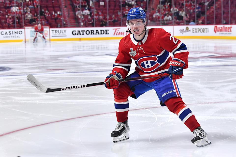 MONTREAL, QC - JULY 2: Cole Caufield #22 of the Montreal Canadiens
