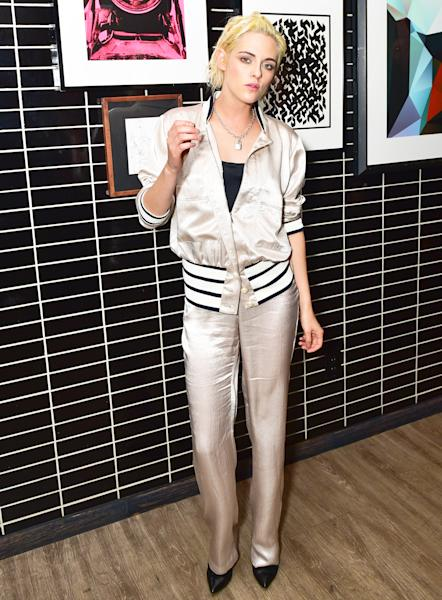 Kristen Stewart Stuns at the Moet and Cinema Society party for 'Personal Shopper' at the Skylark in NYC
