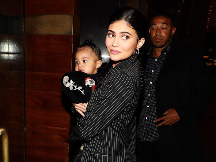 Kylie Jenner and Stormi.