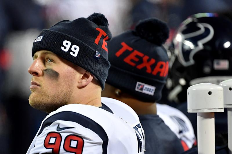 J.J. Watt voiced a rebuke of the NFL's term sheet for the new collective bargaining agreement on Thursday. (Photo by Peter Aiken/Getty Images)