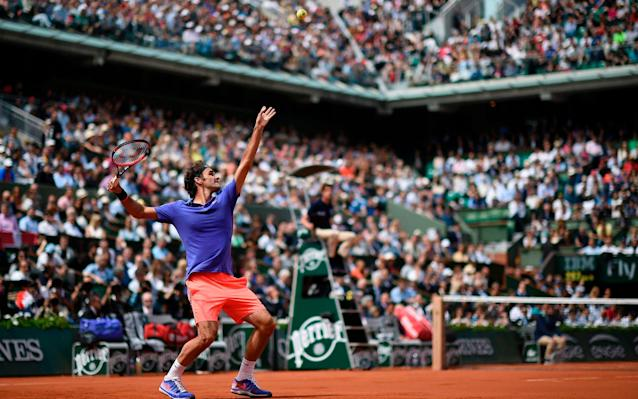 Roger Federer will play on clay this spring after a two-year absence - AFP