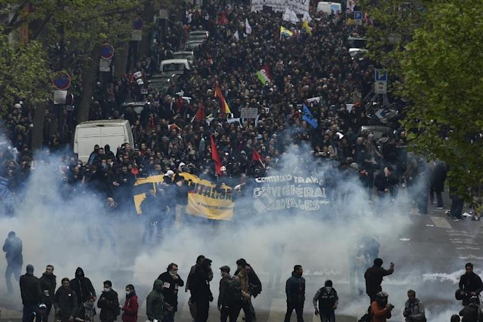 Since March 9, hundreds of thousands of people in cities around France have demonstrated against what they see as a reform weighed in favour of businesses (AFP Photo/Dominique Faget)