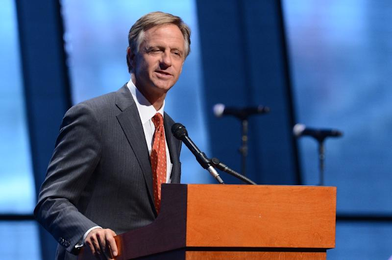 "Tennessee Governor Bill Haslam, pictured in Nashville in 2014, said Cyntoia Brown had been given ""too harsh"" a sentence (AFP Photo/Jason Davis)"