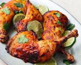 """<p>There's no getting around the marinating time here—the spiced yoghurt mixture is key to super flavourful and tender chicken.</p><p>Get the <a href=""""https://www.delish.com/uk/cooking/recipes/a28841239/tandoori-chicken-recipe/"""" rel=""""nofollow noopener"""" target=""""_blank"""" data-ylk=""""slk:Tandoori Chicken"""" class=""""link rapid-noclick-resp"""">Tandoori Chicken</a> recipe.</p>"""