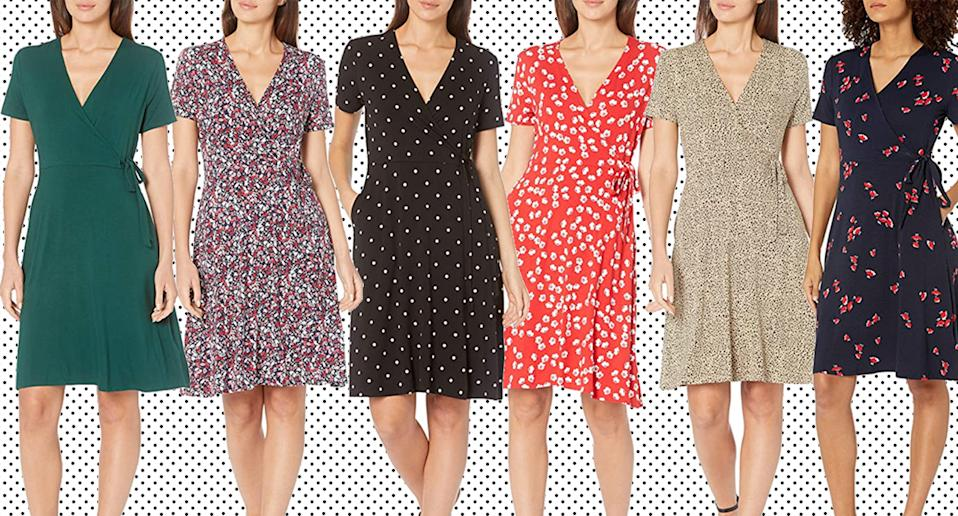 Women are snapping up Amazon's flattering wrap dress for summer. (Amazon)