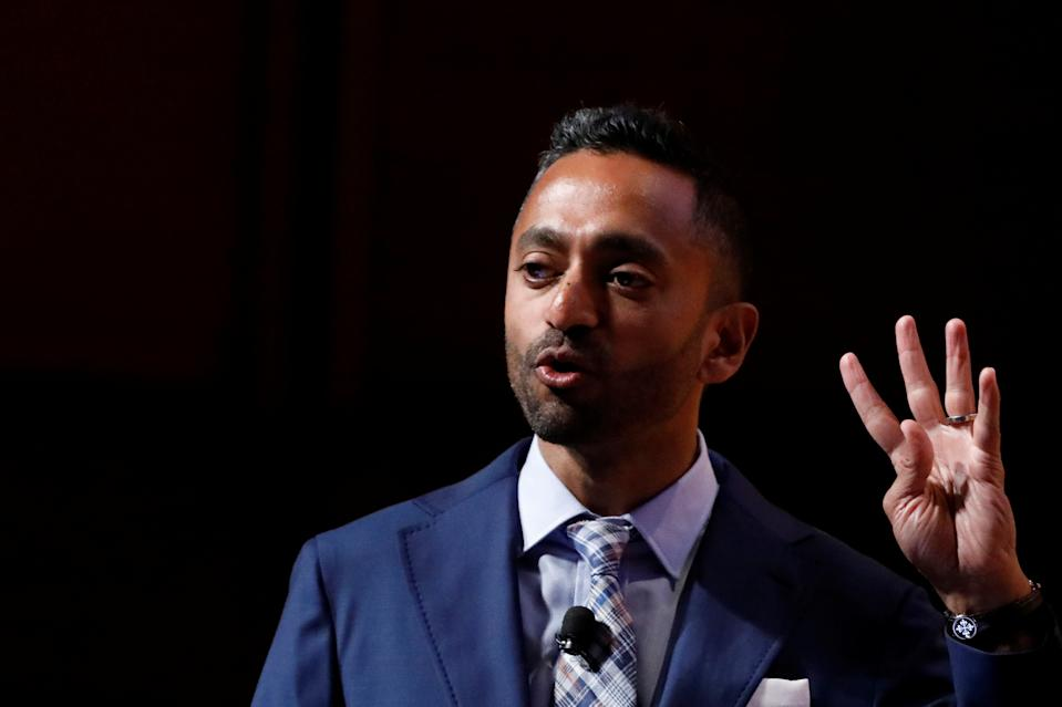 Chamath Palihapitiya, Founder and CEO of Social Capital, speaks during the Sohn Investment Conference in New York City, U.S., May 8, 2017. REUTERS/Brendan McDermid