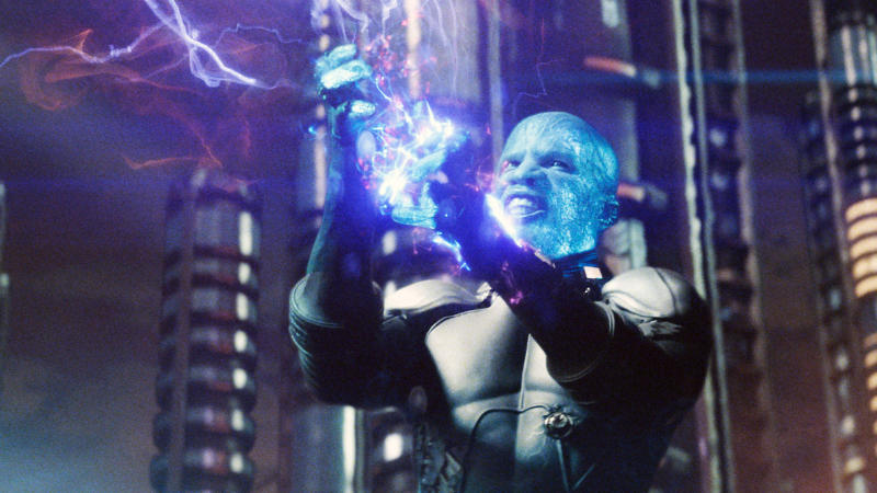 Jamie Foxx as Electro in 'The Amazing Spider-Man 2'. (Credit: Sony)
