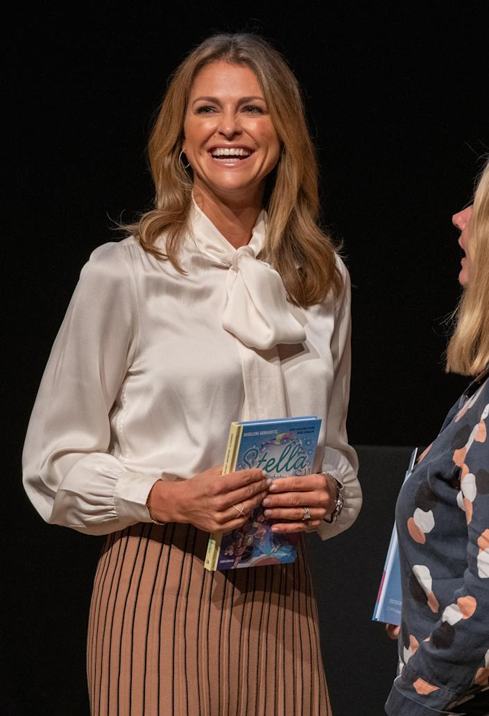 GOTHENBURG, SWEDEN - SEPTEMBER 27: Princess Madeleine of Sweden attends the launch of her book 'Stella and the Secret' at the Gothenburg Book Fair on September 27, 2019 at Svenska Massan in Gothenburg, Sweden. (Photo by Julia Reinhart/Getty Images)